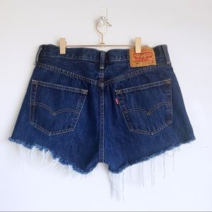 LEVI'S Dark Vintage Blue Button Fly 501 Shorts